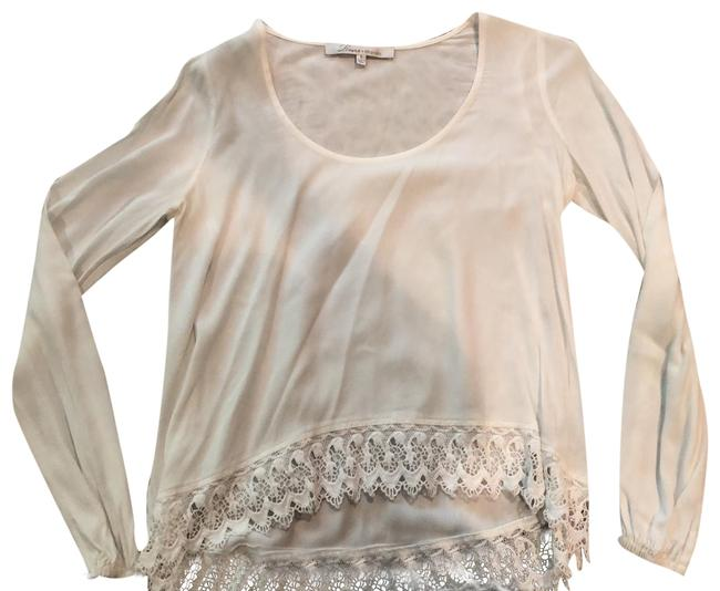 Lovers + Friends White Lace Blouse Size 4 (S) Lovers + Friends White Lace Blouse Size 4 (S) Image 1