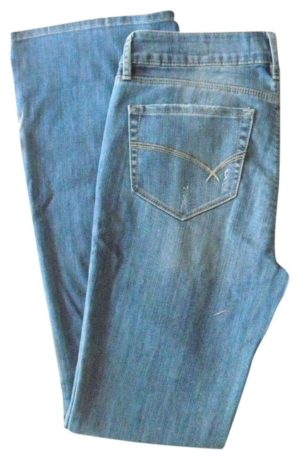Item - Blue Distressed Boot Cut Jeans Size 31 (6, M)