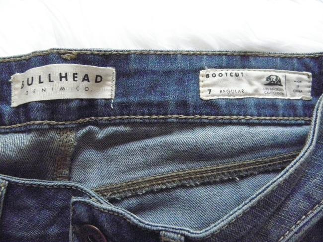 Bullhead Denim Co. Stretch Distressed Boot Cut Jeans-Distressed Image 3