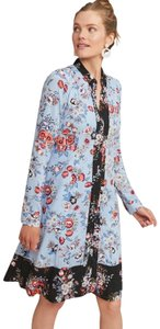 Anthropologie short dress blue Lace Floral Shirtdress Button Down on Tradesy