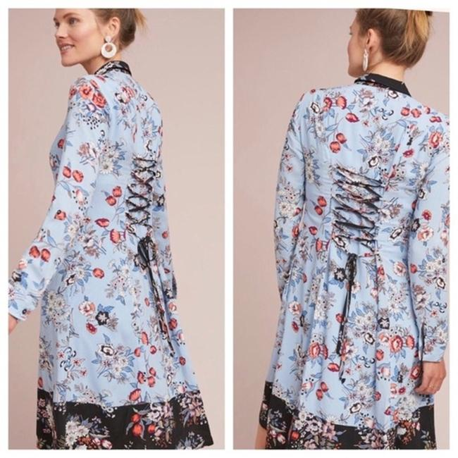 Anthropologie short dress blue Lace Floral Shirtdress Button Down on Tradesy Image 2