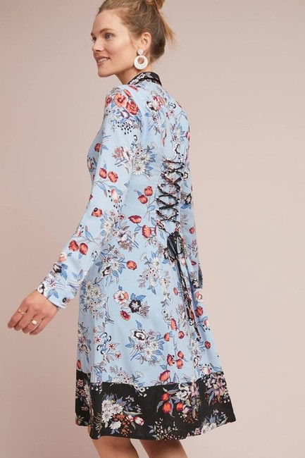 Anthropologie short dress blue Lace Floral Shirtdress Button Down on Tradesy Image 3