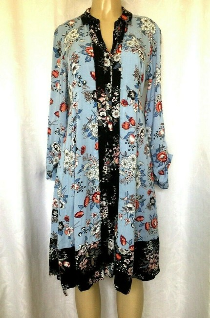 Anthropologie short dress blue Lace Floral Shirtdress Button Down on Tradesy Image 4