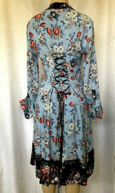 Anthropologie short dress blue Lace Floral Shirtdress Button Down on Tradesy Image 5