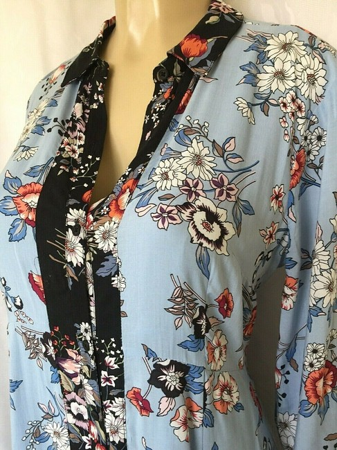 Anthropologie short dress blue Lace Floral Shirtdress Button Down on Tradesy Image 6