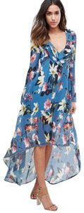 Blue Floral Maxi Dress by Foxiedox