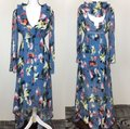 Blue Floral Maxi Dress by Foxiedox Image 1