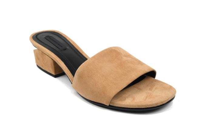 Alexander Wang Camel Lou Suede with Rhodium Sandals Size EU 37.5 (Approx. US 7.5) Regular (M, B) Alexander Wang Camel Lou Suede with Rhodium Sandals Size EU 37.5 (Approx. US 7.5) Regular (M, B) Image 1