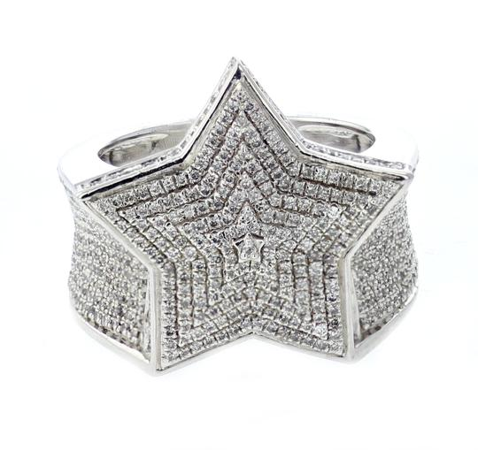 Sterling Silver Diamond For Men 1 35ctw Extra Wide 21mm Ring Tradesy