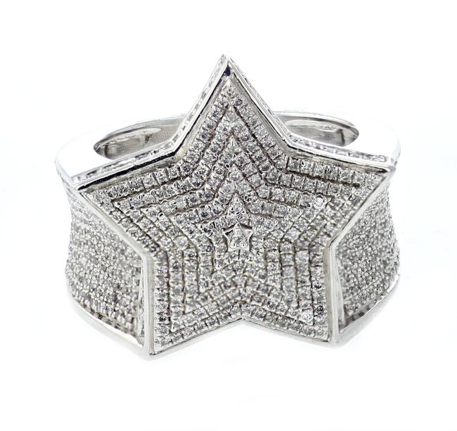 Item - Sterling Silver Diamond For Men 1.35ctw Extra Wide 21mm Ring