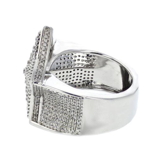 Sterling Silver Diamond For Men 1.35ctw Extra Wide 21mm Ring Image 2