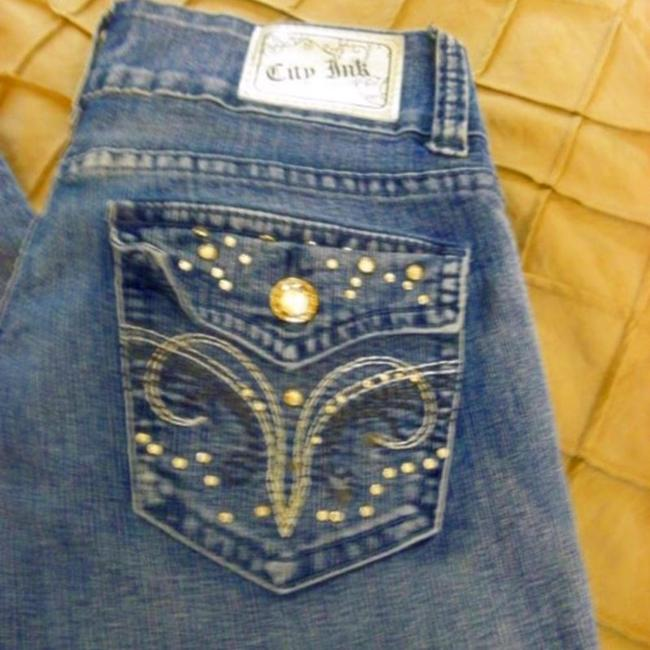 City Ink Denim Stretch Embellished Skinny Jeans Image 7