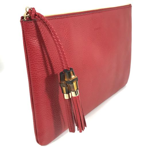 Gucci Bags Pouches 449653 Red Clutch Image 1