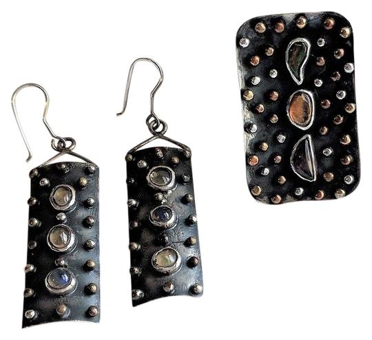 Preload https://img-static.tradesy.com/item/25522230/unique-oxidized-sterling-silver-mexican-opal-and-earrings-set-ring-0-1-540-540.jpg