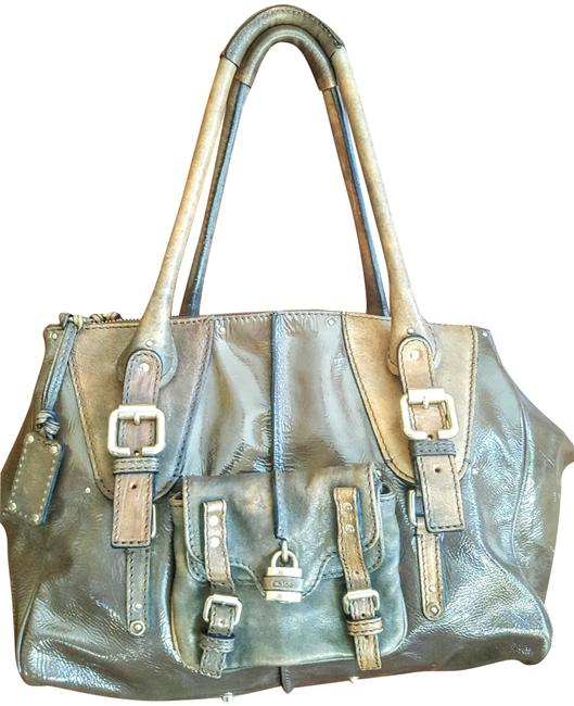 Chloé Rare Brownish Olive Patent Leather Tote Chloé Rare Brownish Olive Patent Leather Tote Image 1