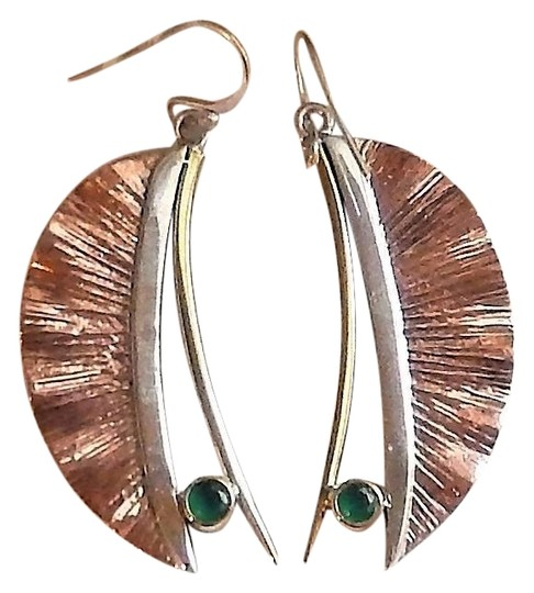 Preload https://img-static.tradesy.com/item/25522330/artisan-crafted-sterling-silver-copper-emerald-earrings-0-1-540-540.jpg
