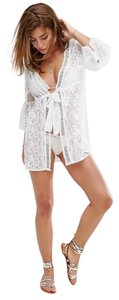 River Island Sexy Tunic RIVER ISLAND Lace Mesh Floral Embroidered Cover Up Caftan