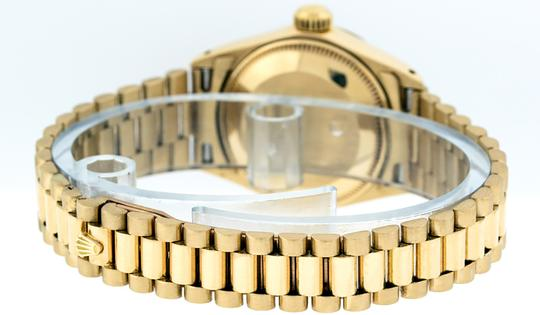 Rolex Ladies Datejust 18k Yellow Gold with MOP Emerald Dial Image 6