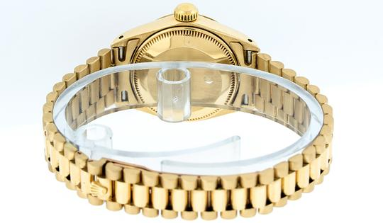 Rolex Ladies Datejust 18k Yellow Gold with MOP Emerald Dial Image 8