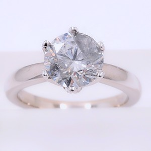 Salt & Pepper Diamond Solitaire Soltice Setting 2.35ct Engagement Ring