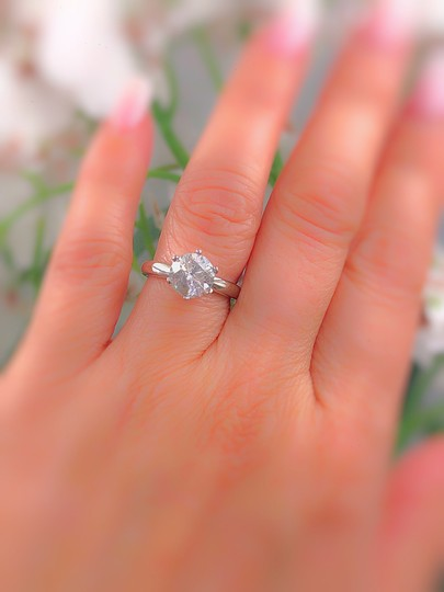 Salt & Pepper Diamond Solitaire Soltice Setting 2.35ct Engagement Ring Image 1
