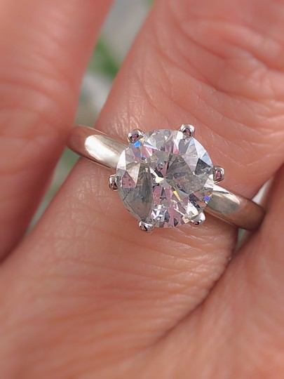 Salt & Pepper Diamond Solitaire Soltice Setting 2.35ct Engagement Ring Image 11