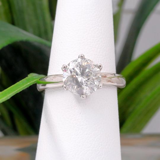 Salt & Pepper Diamond Solitaire Soltice Setting 2.35ct Engagement Ring Image 2