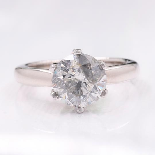 Salt & Pepper Diamond Solitaire Soltice Setting 2.35ct Engagement Ring Image 3