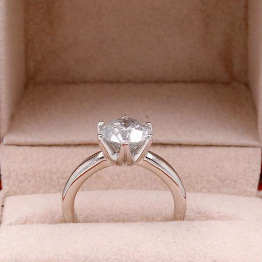 Salt & Pepper Diamond Solitaire Soltice Setting 2.35ct Engagement Ring Image 4