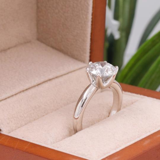 Salt & Pepper Diamond Solitaire Soltice Setting 2.35ct Engagement Ring Image 5