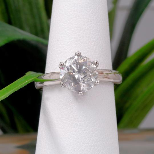 Salt & Pepper Diamond Solitaire Soltice Setting 2.35ct Engagement Ring Image 6