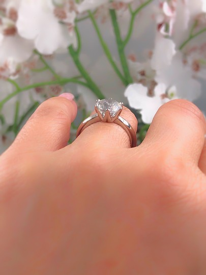 Salt & Pepper Diamond Solitaire Soltice Setting 2.35ct Engagement Ring Image 7