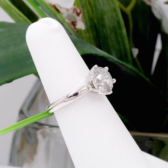 Salt & Pepper Diamond Solitaire Soltice Setting 2.35ct Engagement Ring Image 8