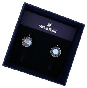 b43aeee02 Swarovski BELLA PIERCED EARRINGS. Swarovski Blue Bella Pierced Earrings