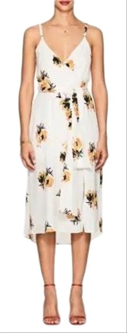 A.L.C. White Yellow Multi Colored Floral L Marin Mid-length Night Out Dress Size 4 (S) A.L.C. White Yellow Multi Colored Floral L Marin Mid-length Night Out Dress Size 4 (S) Image 1