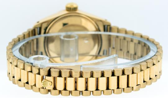 Rolex Ladies Datejust 18k Yellow Gold with Diamond Dial Watch Image 1