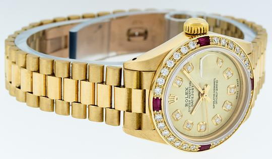 Rolex Ladies Datejust 18k Yellow Gold with Diamond Dial Watch Image 2