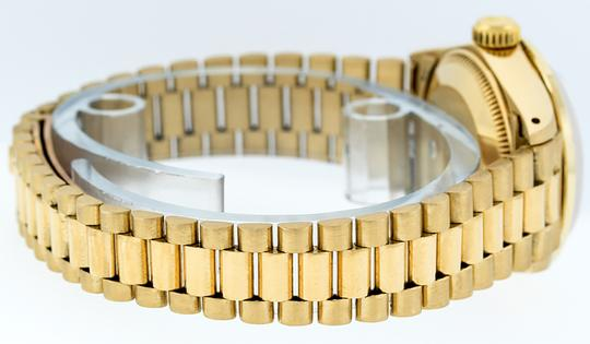 Rolex Ladies Datejust 18k Yellow Gold with Diamond Dial Watch Image 3