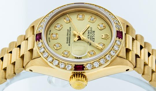 Rolex Ladies Datejust 18k Yellow Gold with Diamond Dial Watch Image 4