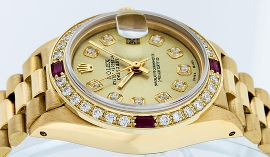 Rolex Ladies Datejust 18k Yellow Gold with Diamond Dial Watch Image 5