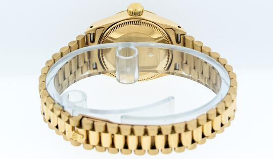 Rolex Ladies Datejust 18k Yellow Gold with Diamond Dial Watch Image 6