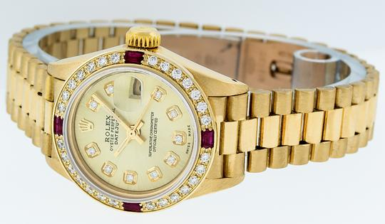 Rolex Ladies Datejust 18k Yellow Gold with Diamond Dial Watch Image 7