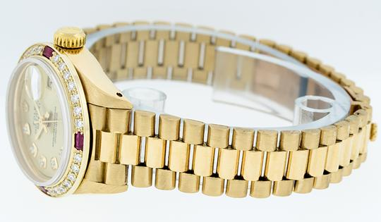 Rolex Ladies Datejust 18k Yellow Gold with Diamond Dial Watch Image 8