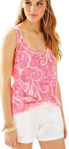 Lilly Pulitzer Pout Silk Top Pink