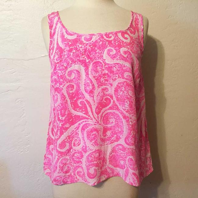 Lilly Pulitzer Pout Silk Top Pink Image 1