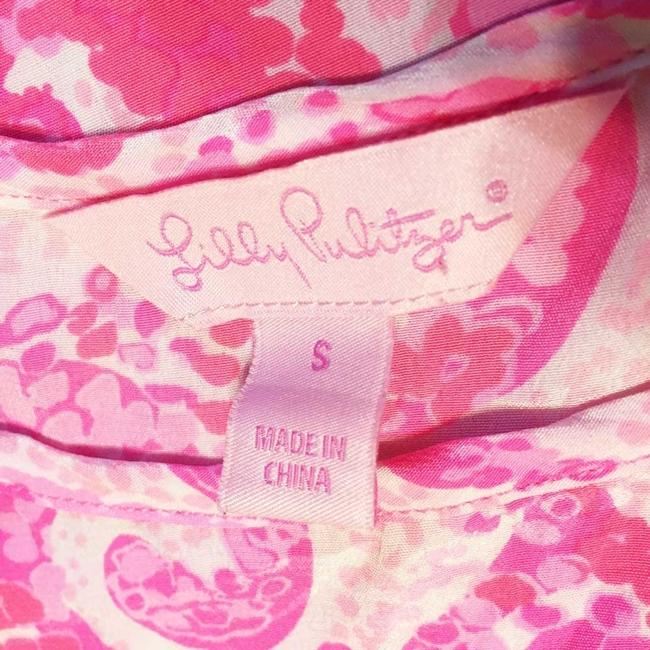 Lilly Pulitzer Pout Silk Top Pink Image 7