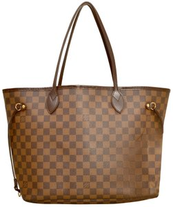 Louis Vuitton Shopper Shoulder Neverfull Damier Ebene Tote in Brown