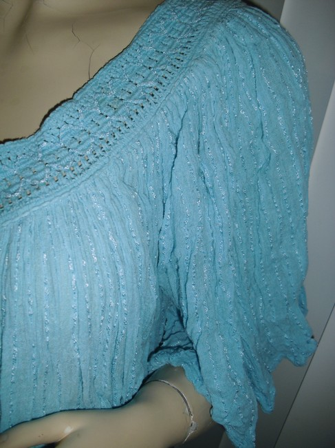 turquoise, as pictured Maxi Dress by Bohemian Gauze Hippie Style Gypsy Style Style Crinkled Cotton Maxi Maxi Image 2