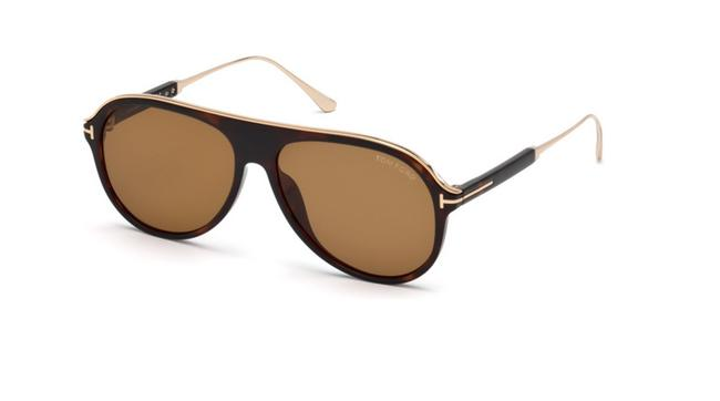 Tom Ford Brown Ft0624 52e Sunglasses Tom Ford Brown Ft0624 52e Sunglasses Image 1