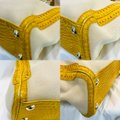 Céline Crocodile Embossed Leather And Yellow Canvas Tote Céline Crocodile Embossed Leather And Yellow Canvas Tote Image 7